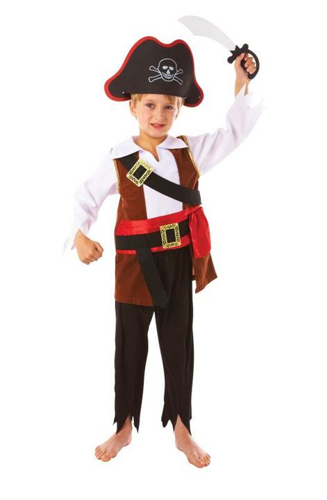 Boys Treasure Pirate Fancy Dress Costume  Thumbnail 1
