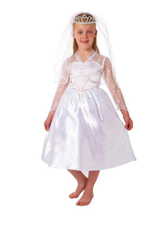 Girls Beautiful Bride Fancy Dress Costume  Thumbnail 1