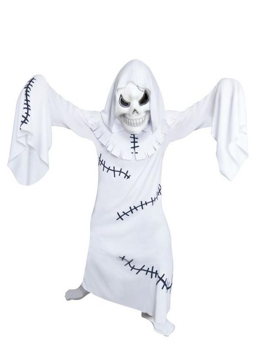 Kids Ghastly Ghoul Ghost Boys Halloween Party Fancy Dress Childs Costume Outfit Thumbnail 1