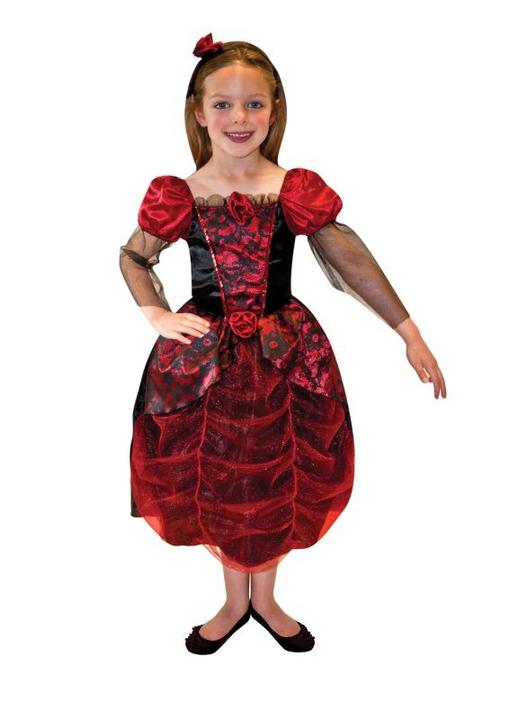 SALE! Kids Gothic Princess Ball Gown Girls Fancy Dress Childs Costume Outfit Thumbnail 1