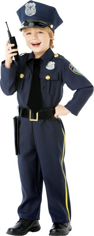 Boys Police Officer Fancy Dress Costume