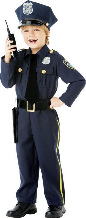 Boys Police Officer Fancy Dress Costume  Thumbnail 1