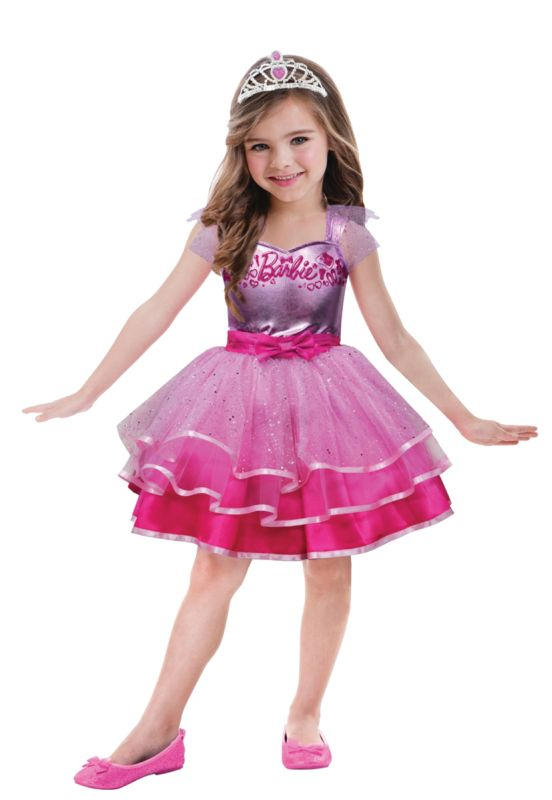 Girls Barbie Ballet Fancy Dress Costume