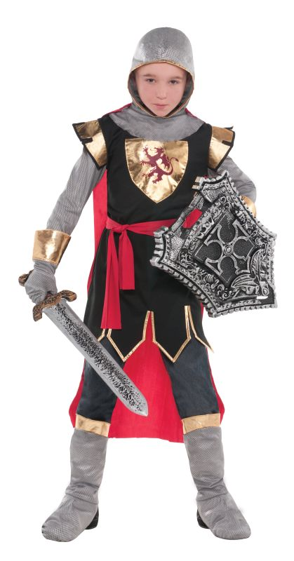 Boys Brave Crusader Fancy Dress Costume