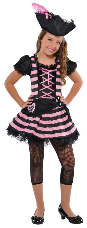 Girls Sweetheart Pirate Fancy Dress Costume