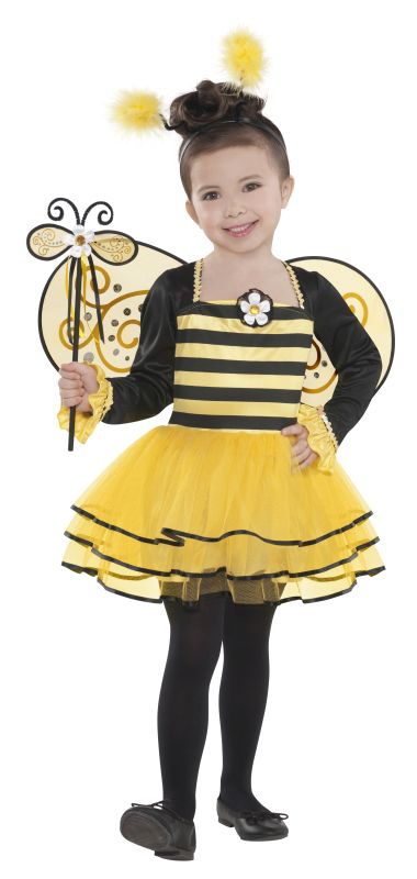 Girls Ballerina Bee Fancy Dress Costume