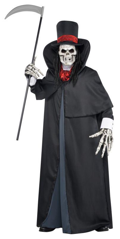 Boys Teen Halloween Dapper Death Costume Kids Horror Fancy Dress Outfit