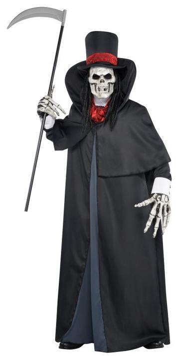 Boys Teen Halloween Dapper Death Costume Kids Horror Fancy Dress Outfit Thumbnail 1