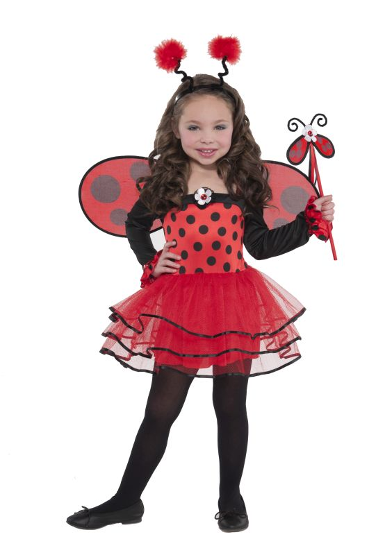 Girls Ballerina Bug Fancy Dress Costume