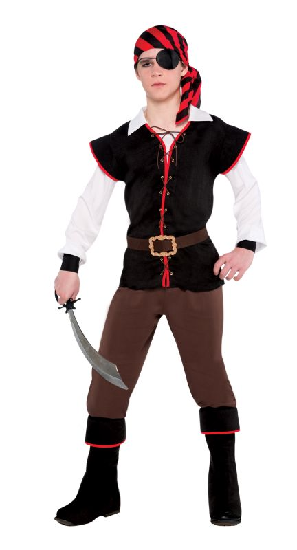 Boy Teens Rebel Of The Sea Fancy Dress Costume