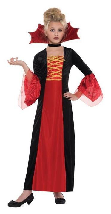 SALE Kids Evil Gothic Princess Girls Halloween Fancy Dress Childs Costume Outfit Thumbnail 1