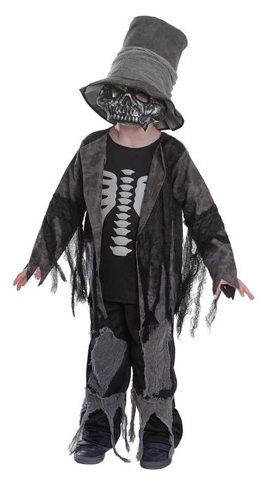 SALE! Kids Spooky Zombie Gravedigger Boys Halloween Fancy Dress Costume Outfit Thumbnail 1