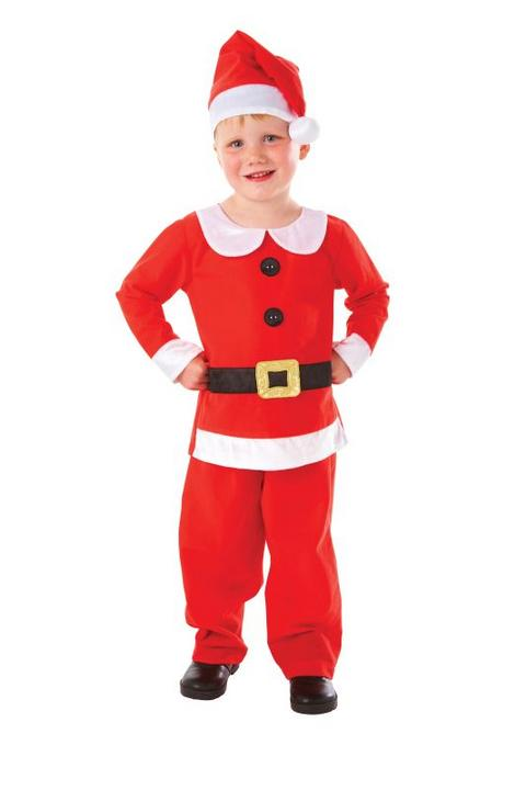 Boys Mr Santa Fancy Dress Costume  Thumbnail 1