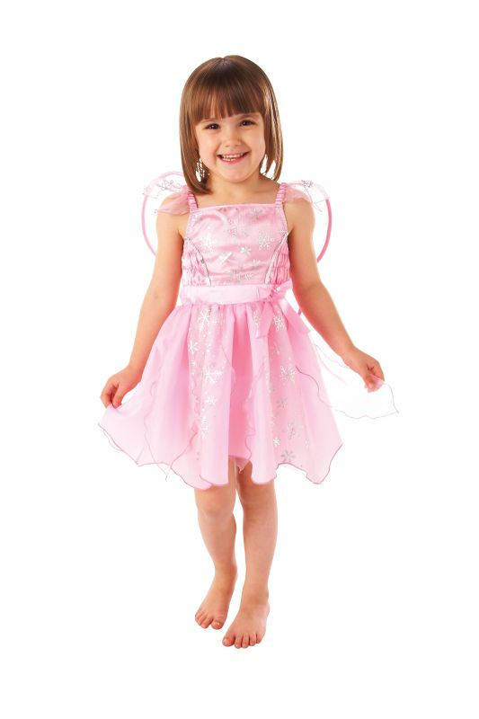 Girls Pink Fairy Fancy Dress Costume