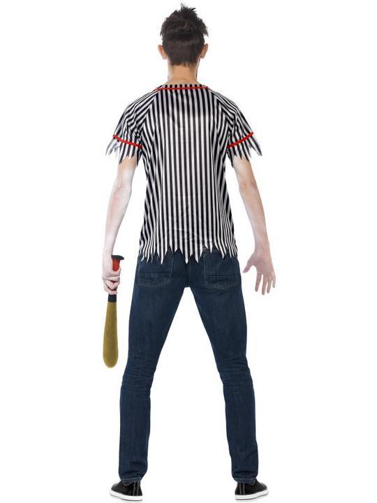 Teen Zombie Baseball Player Costume Thumbnail 2