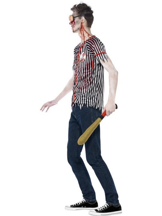 Teen Zombie Baseball Player Costume Thumbnail 3