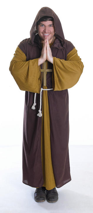 Mens friar Tuck Costume  Thumbnail 1
