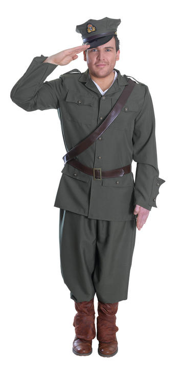 Mens First World War Officer Costume  Thumbnail 1