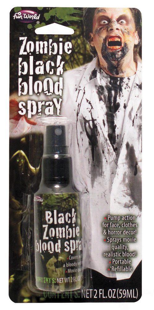 Black Zombie Blood Spary