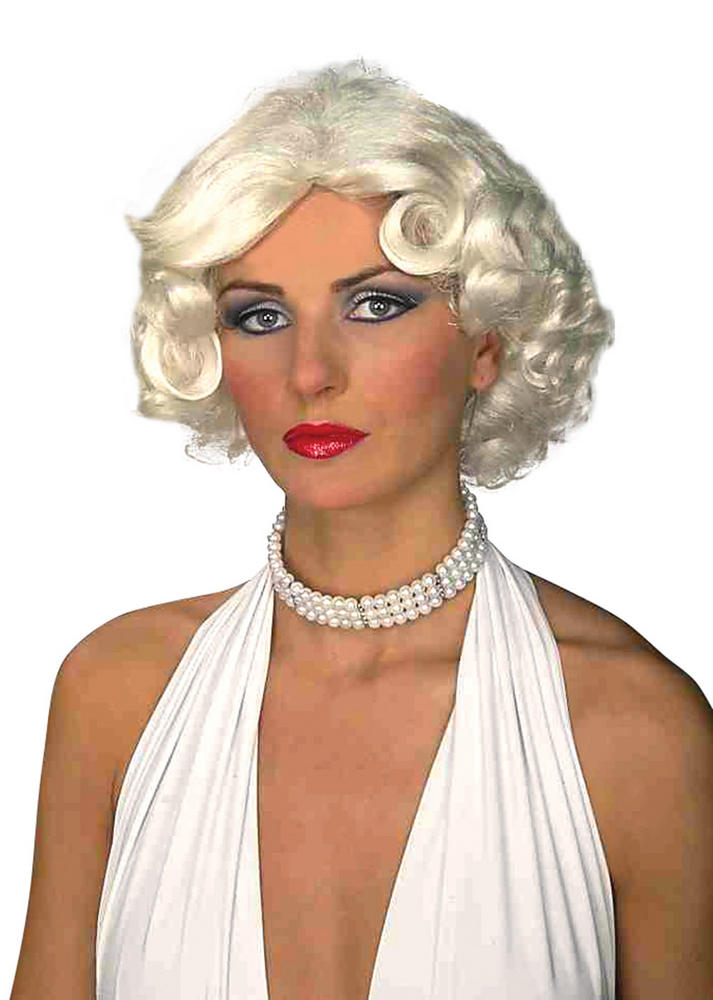 Womens Vintage Hollywood Blonde Wig