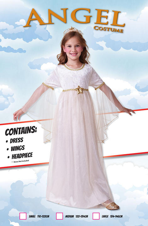 Girls Angel Long Sleeves Costume  Thumbnail 1