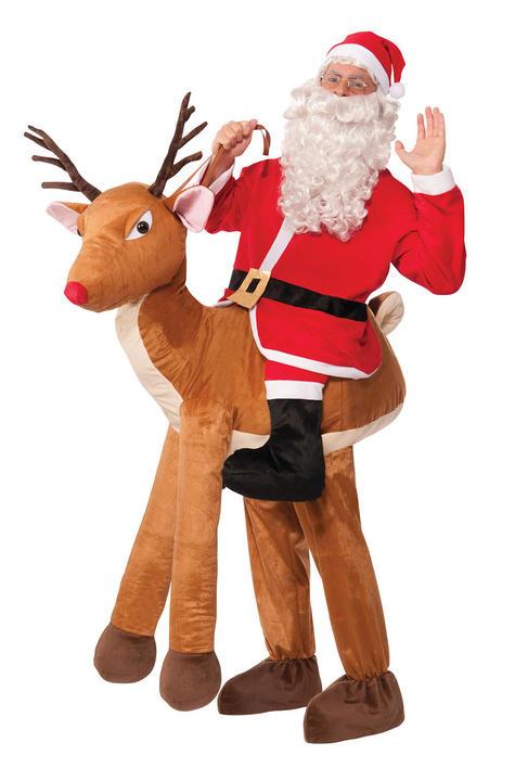 Adult Santa Ride-A-Reindeer Thumbnail 1