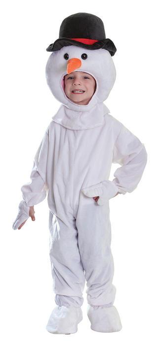 Childs Snowman Plush Fancy Dress Costume Thumbnail 1
