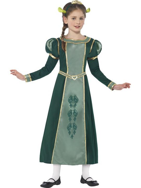 SALE Childrens Shrek Princess Fiona Costume Girls Licensed Book Week Fancy Dress Thumbnail 1