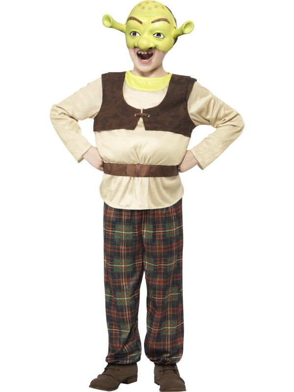NEW Childrens Shrek Ogre Costume Licensed Kids Boys Book Week Fancy Dress Outfit