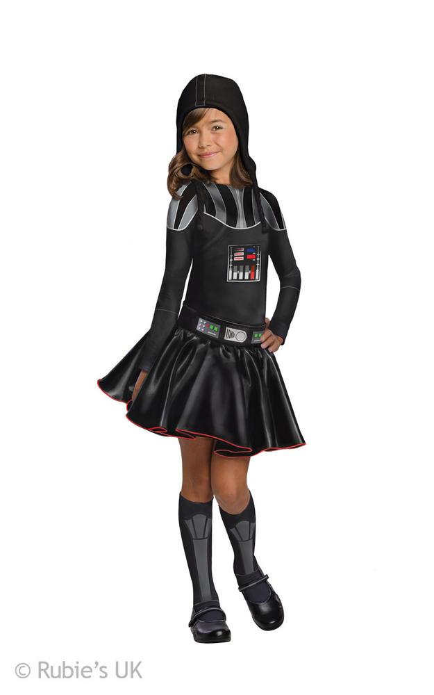 Girls Disney Star Wars Darth Vader Fancy Dress Costume