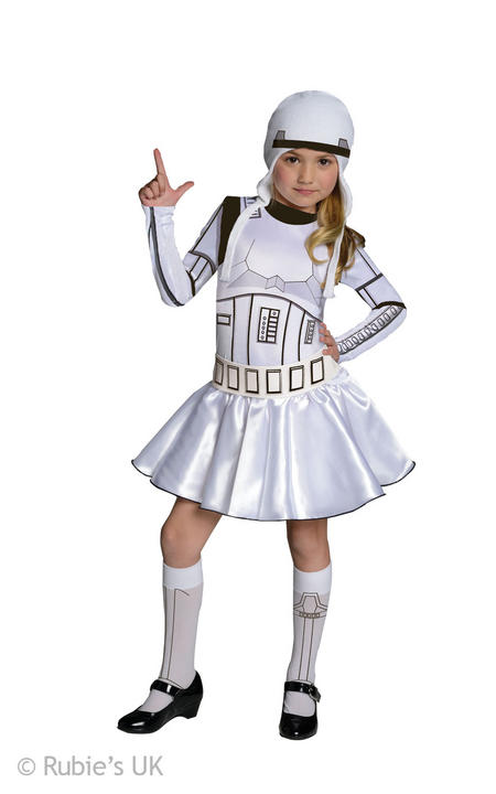 Girls Disney Stars Wars Stormtrooper Fancy Dress Costume  Thumbnail 1