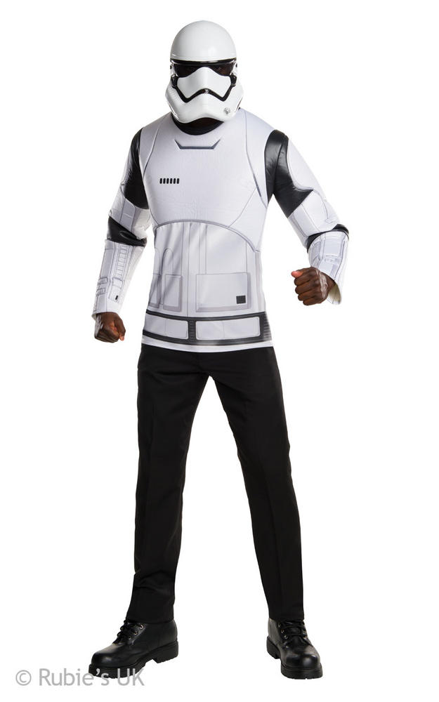 Mens Disney Star Wars Stormtrooper Shirt and Mask Costume