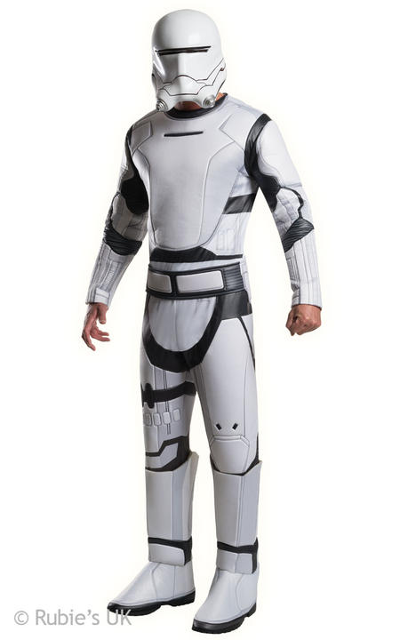 Mens Disney Star Wars Deluxe Stormtrooper Red Fancy Dress Costume Thumbnail 1