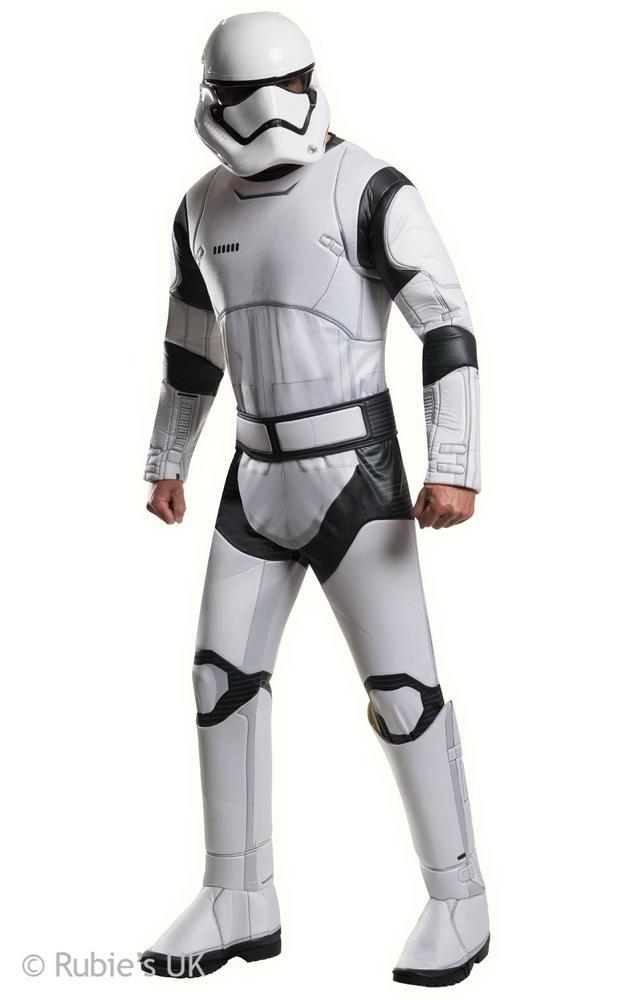 Mens Disney Star Wars Deluxe Stormtrooper White Fancy Dress Costume