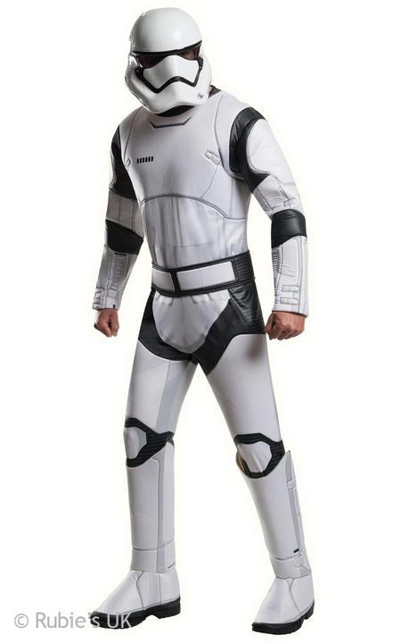 Mens Disney Star Wars Deluxe Stormtrooper White Fancy Dress Costume  Thumbnail 1