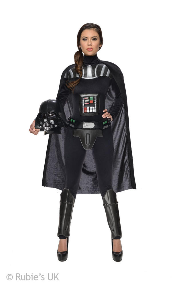 Womens Disney Star Wars Darth Vader Fancy Dress Costume