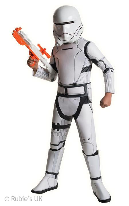 Boys Super Deluxe Star Wars  Stromtrooper Red Costume  Thumbnail 1