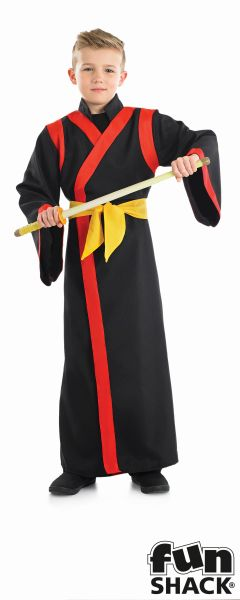 Boys SAMURAI BOY Fancy Dress Costume  Thumbnail 1