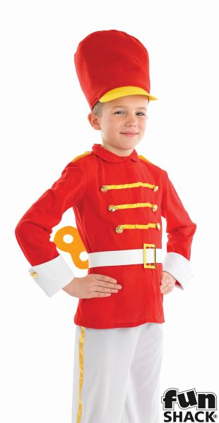 Boys Book Week Tin Soldier Boy Costume Kids Fancy Dress Outfit Thumbnail 2