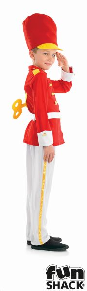 Boys Book Week Tin Soldier Boy Costume Kids Fancy Dress Outfit Thumbnail 3
