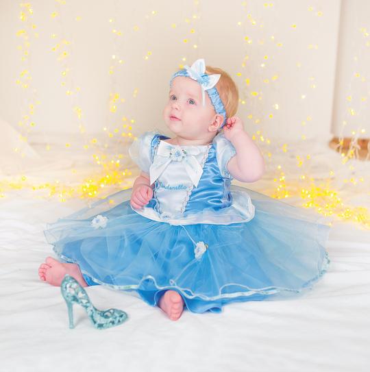 Disney Baby Girl Cinderella Princess Fancy Dress Costume  Thumbnail 1