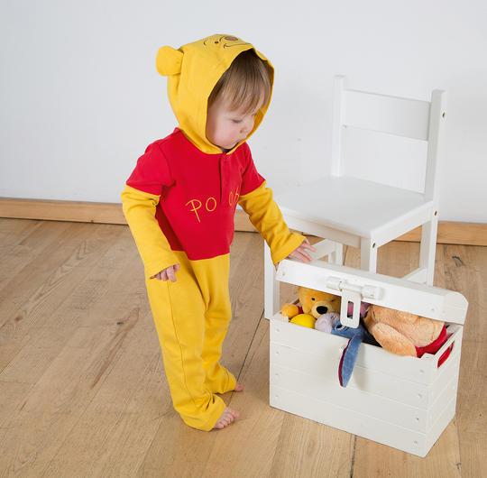 Disney Baby Winnie the Pooh Jersey Romper Fancy Dress Costume Thumbnail 1