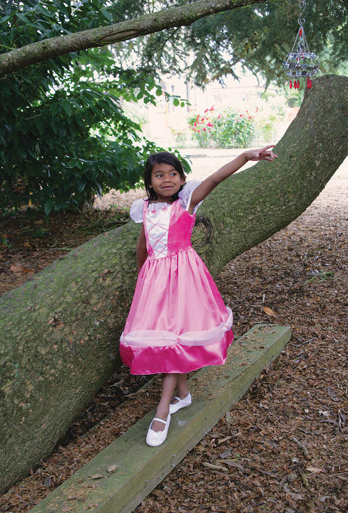 Girls Reversible Princess/Pirate 2-in-1 Style Fancy Dress Costume  Thumbnail 2