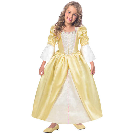 Girls Reversible Princess/Pauper 2-in-1 Fancy Dress Costume Thumbnail 2