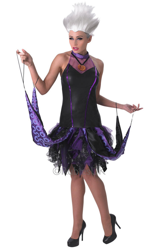Stunning Disneys Little Mermaid Evil Ursula Ladies Halloween Fancy Dress Costume