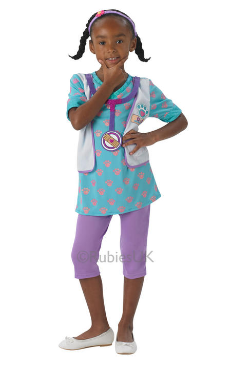 Disneys Girls Doc Mcsuffins Pet Vet Costume  Thumbnail 1