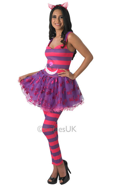 Womens Disney Alice in wonderlands Cheshire Cat Costume  Thumbnail 1