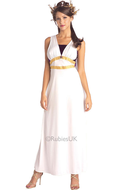 Womens Roman Maiden Fancy Dress Costume  Thumbnail 1