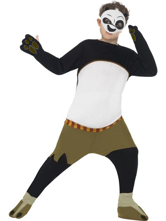 SALE! Boys Kung Fu Panda Po Costume Book Week Kids Film Cartoon Fancy Dress Thumbnail 1
