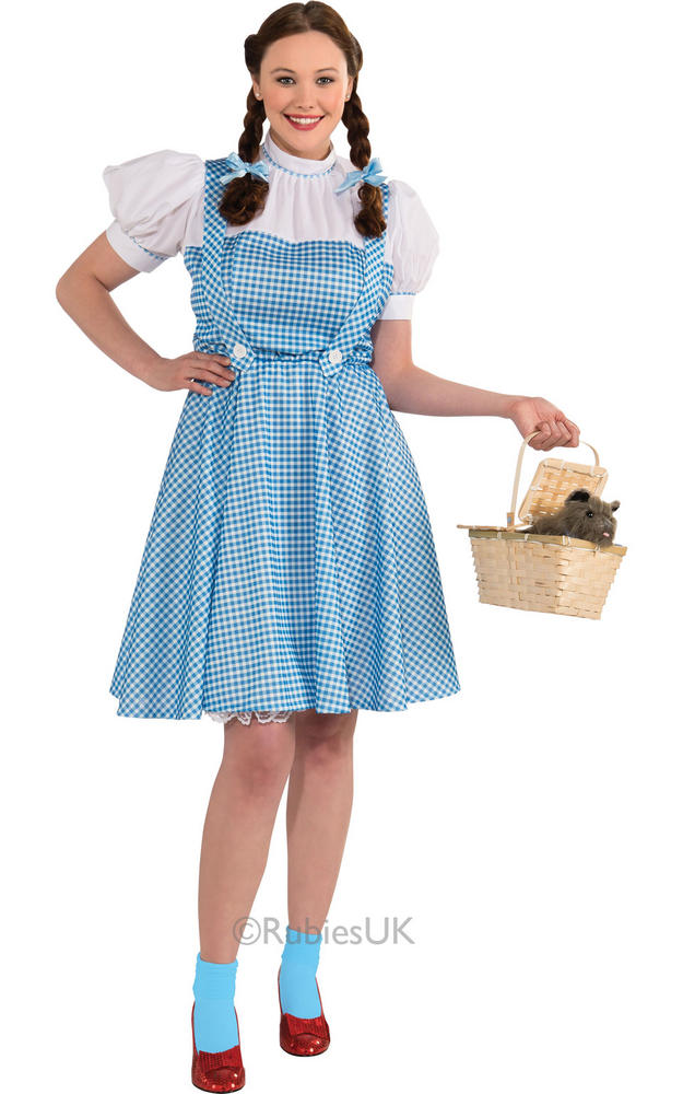 Adult Wizard of Oz Dorothy Outfit Fancy Dress Costume Blue Plus Size Womens BN